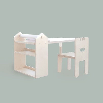 drawing table_chair set